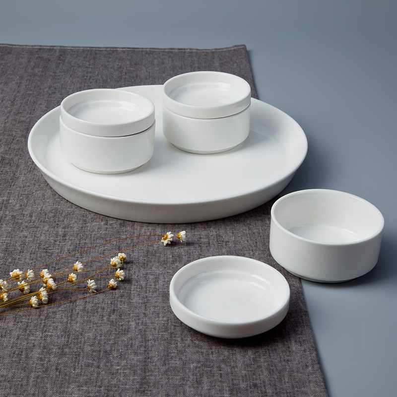 Two Eight German Style Round Porcelain Dinnerware Accessories - YUAN SERIES Porcelain Dinnerware Accessories image5
