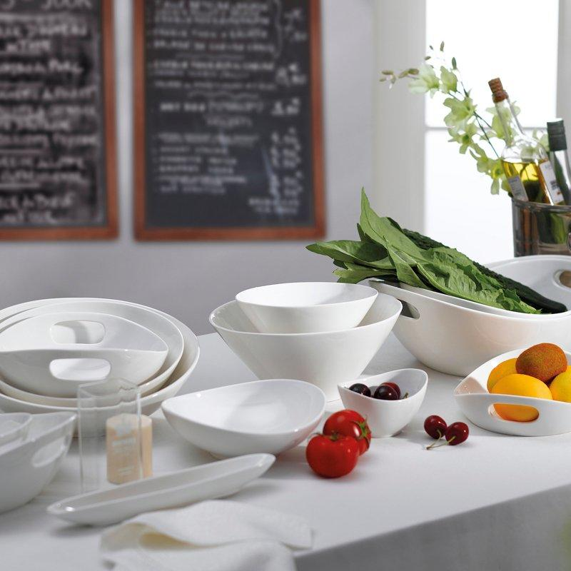 Contemporary Style White Porcelain Dinnerware Accessories for Kitchen - TA07