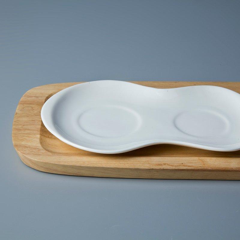 Irregular White Porcelain Dinnerware Accessories for Hotel - TA09
