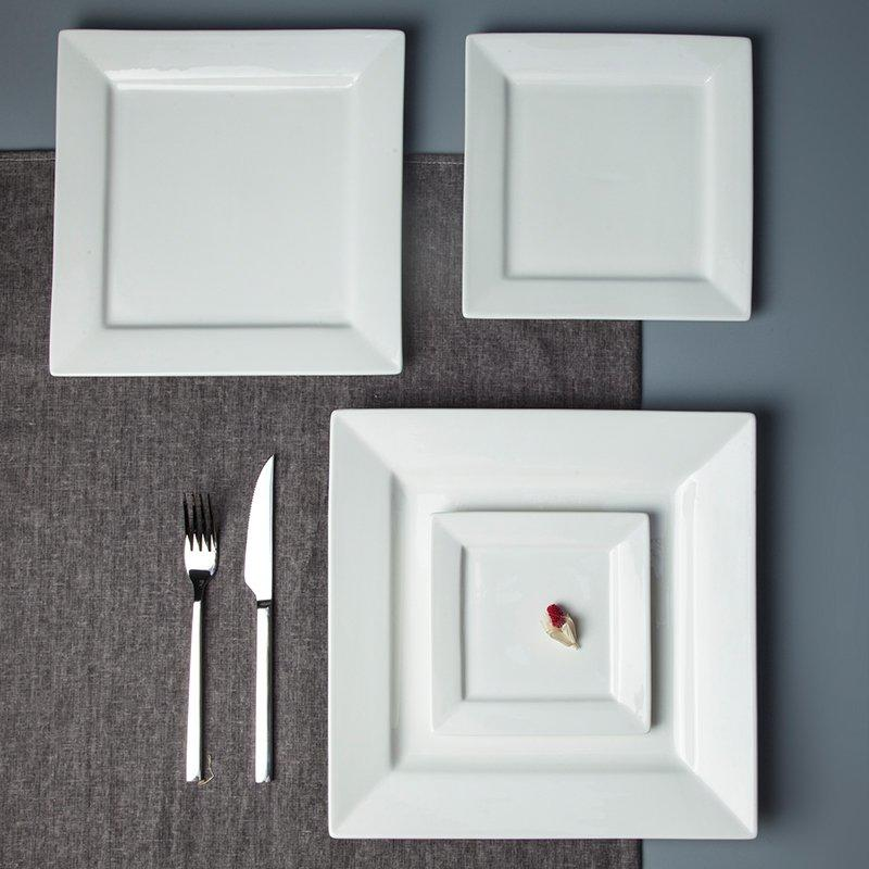 Casual Style Embossed White Color Porcelain Dinnerware Accessories - TA10