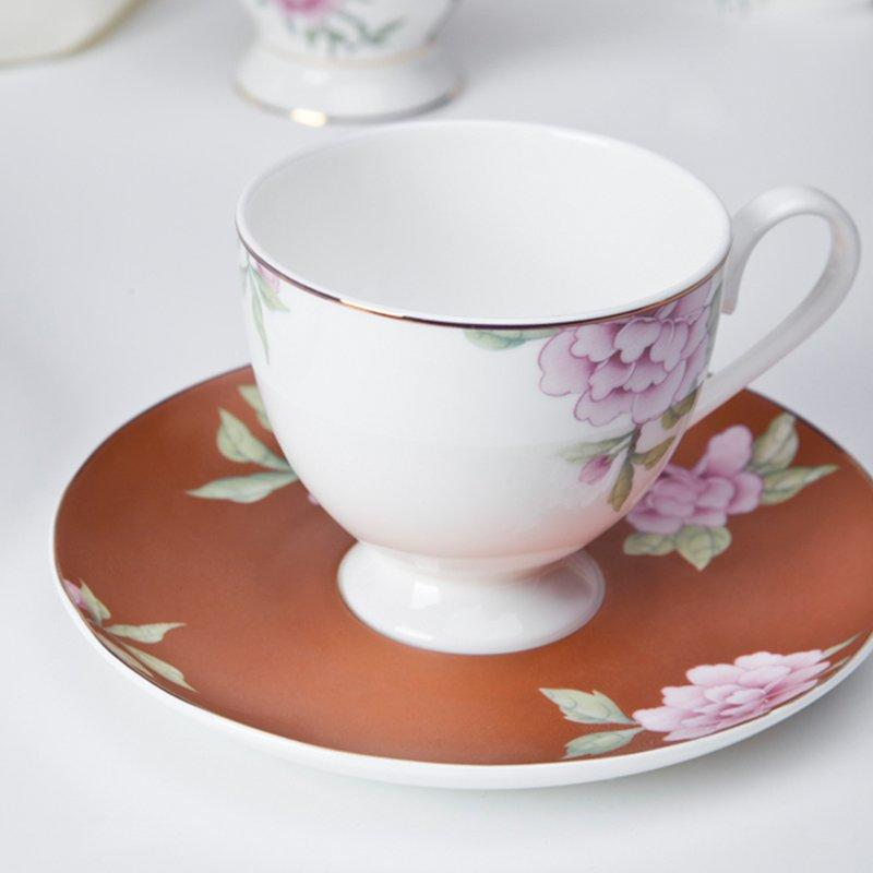 Modern Style Flower Round Porcelain Fine Bone china Dinnerware for Teahouse -  TD15