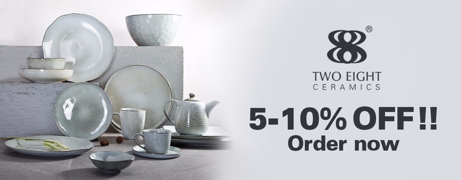 Two Eight blue and white porcelain company for hotel-34