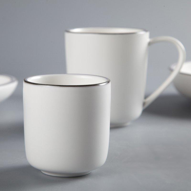 Fresh Style Color Porcelain Dinner Set With Light Golden Rim - TC11