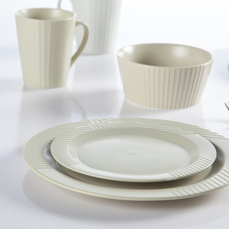 Elegant Style German Embossed Vintage Porcelain Dinnerware Sets for Hotel- TC12