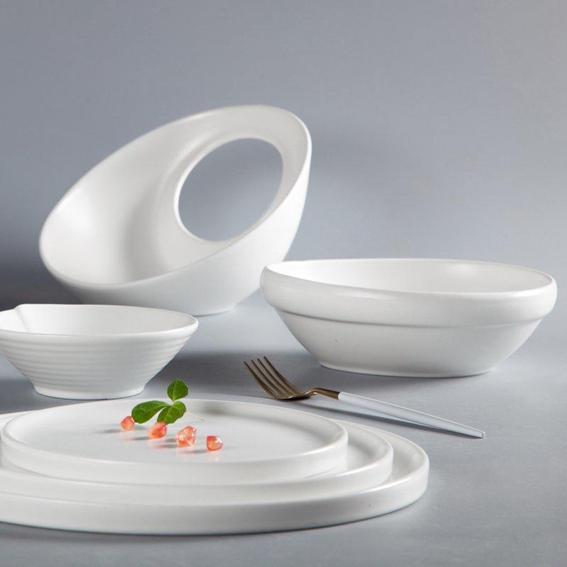 French Irregular Embossed Color Porcelain Dinner Set - TC18
