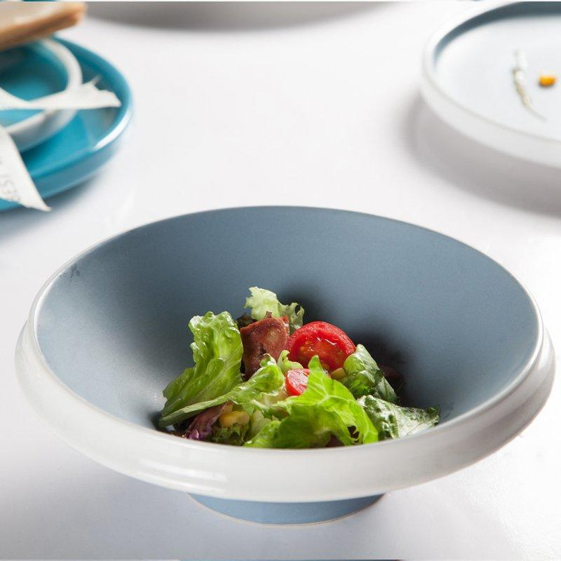 Smooth Surface Colored Casual Round Bone china Dinner Set - TC17