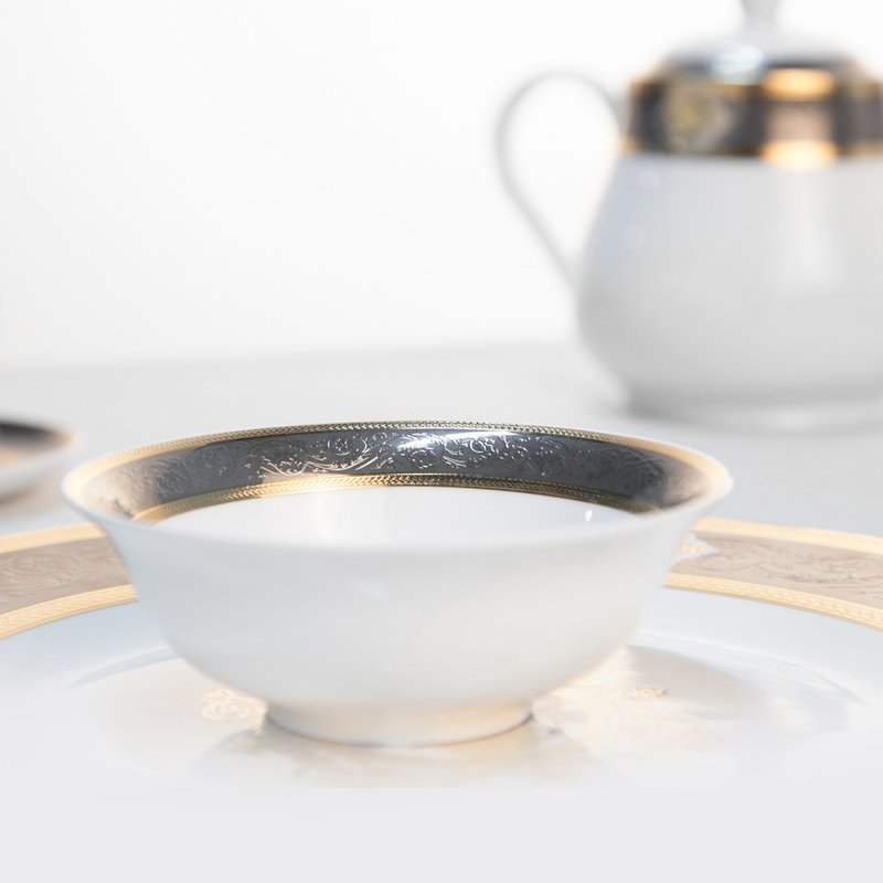 Royal Style Decal Porcelain Fine Bone china Dinnerware for Hotel - TD12