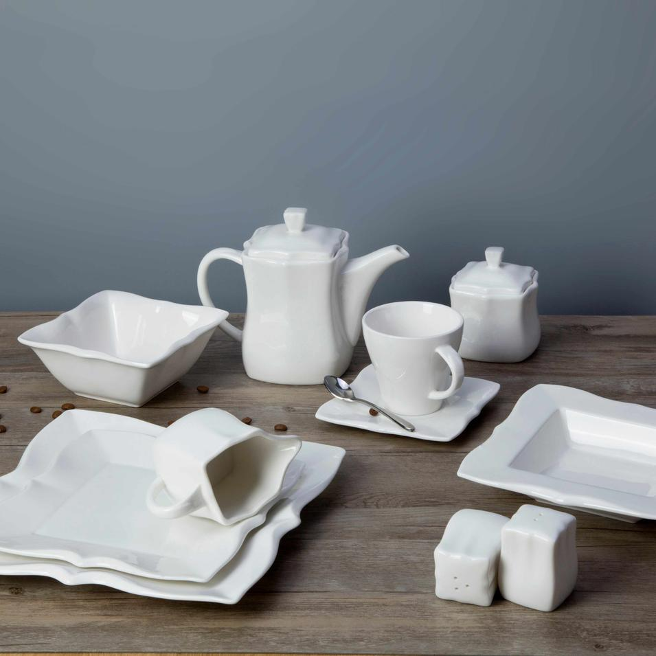 White square restaurant plates dinnerware sets - TW31