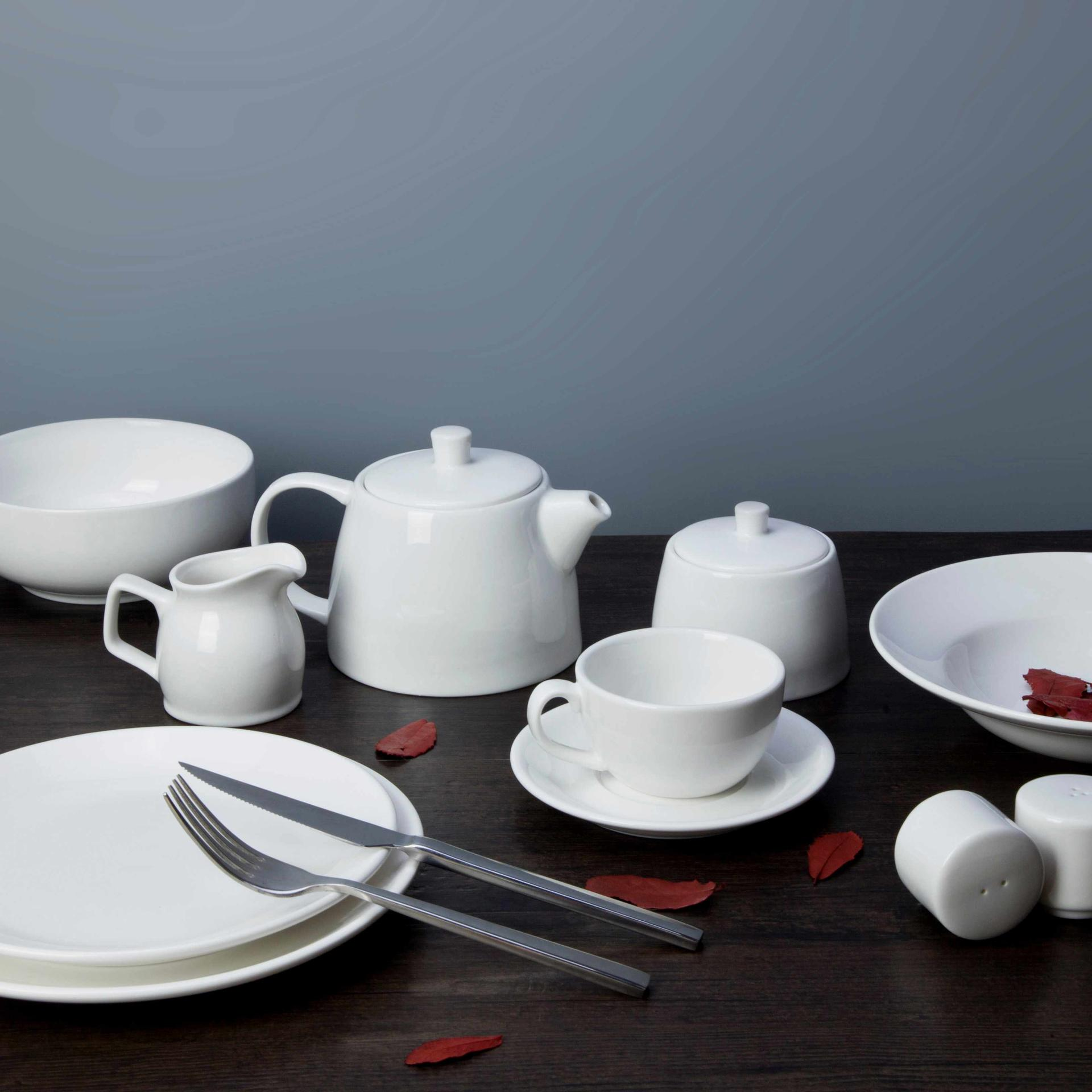8 piece restaurant white dinnerware - TW30