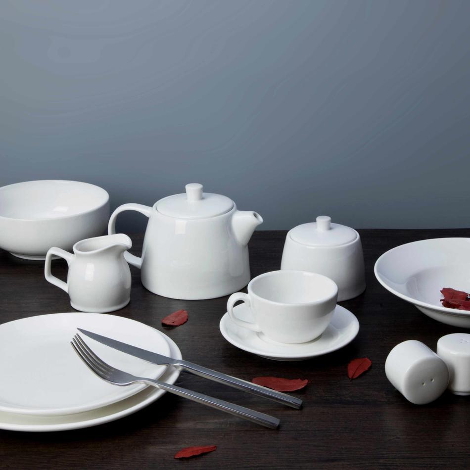 8 piece restaurant white dinnerware - TW30