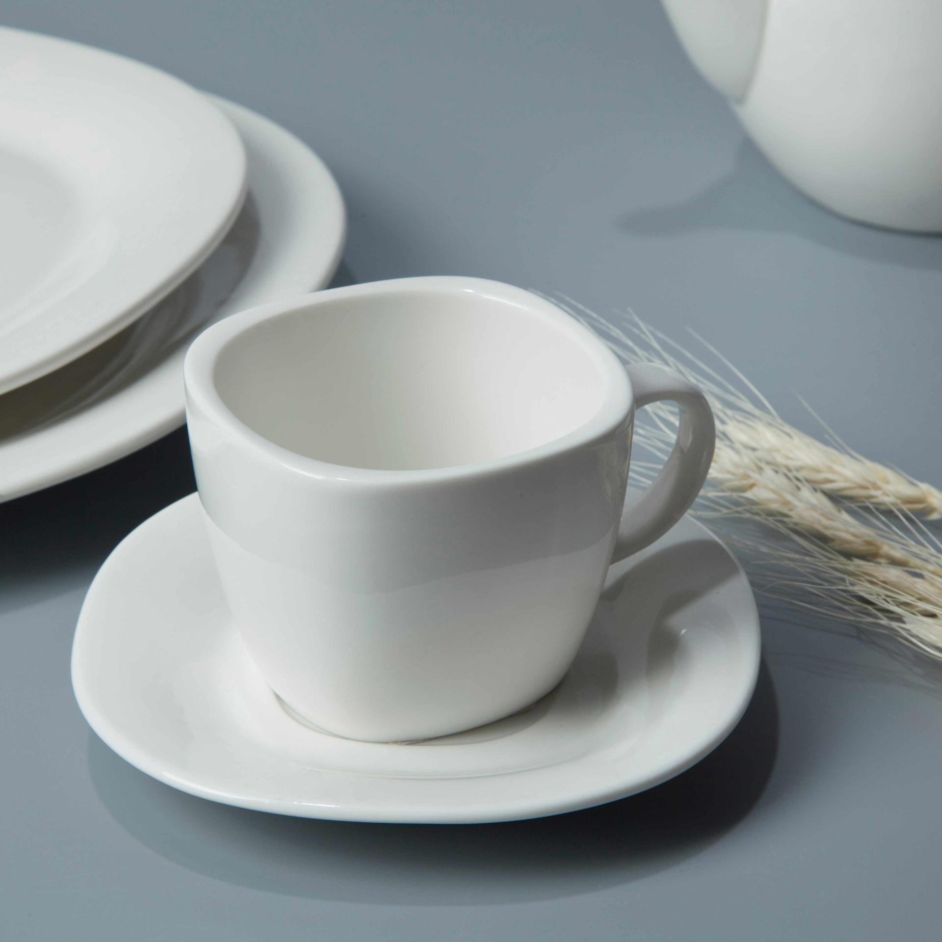 8 piece restaurant contemporary white dinnerware - TW29
