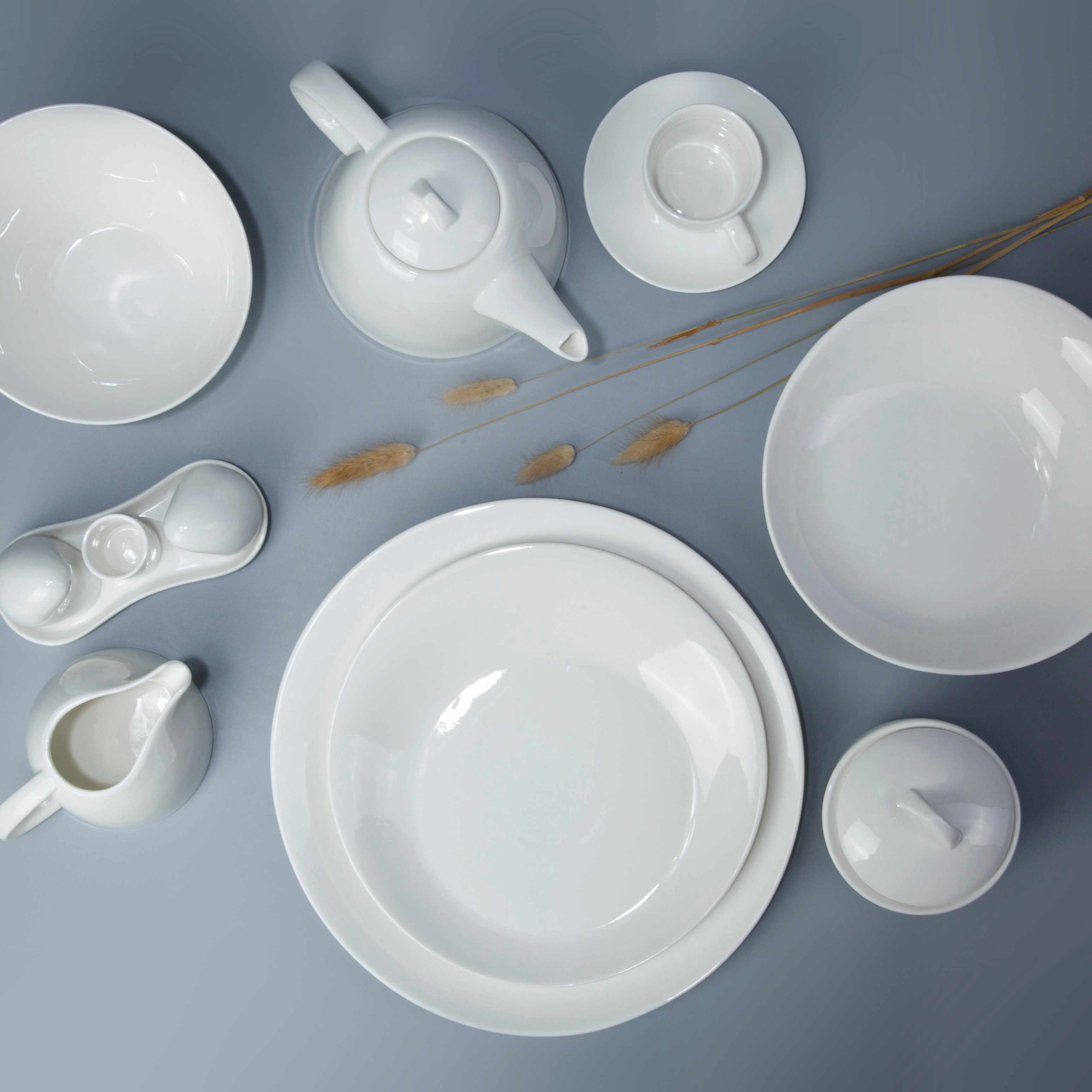 Two Eight White ceramic dinnerware set - YANG BIAN SERIES White Porcelain Dinner Set image13