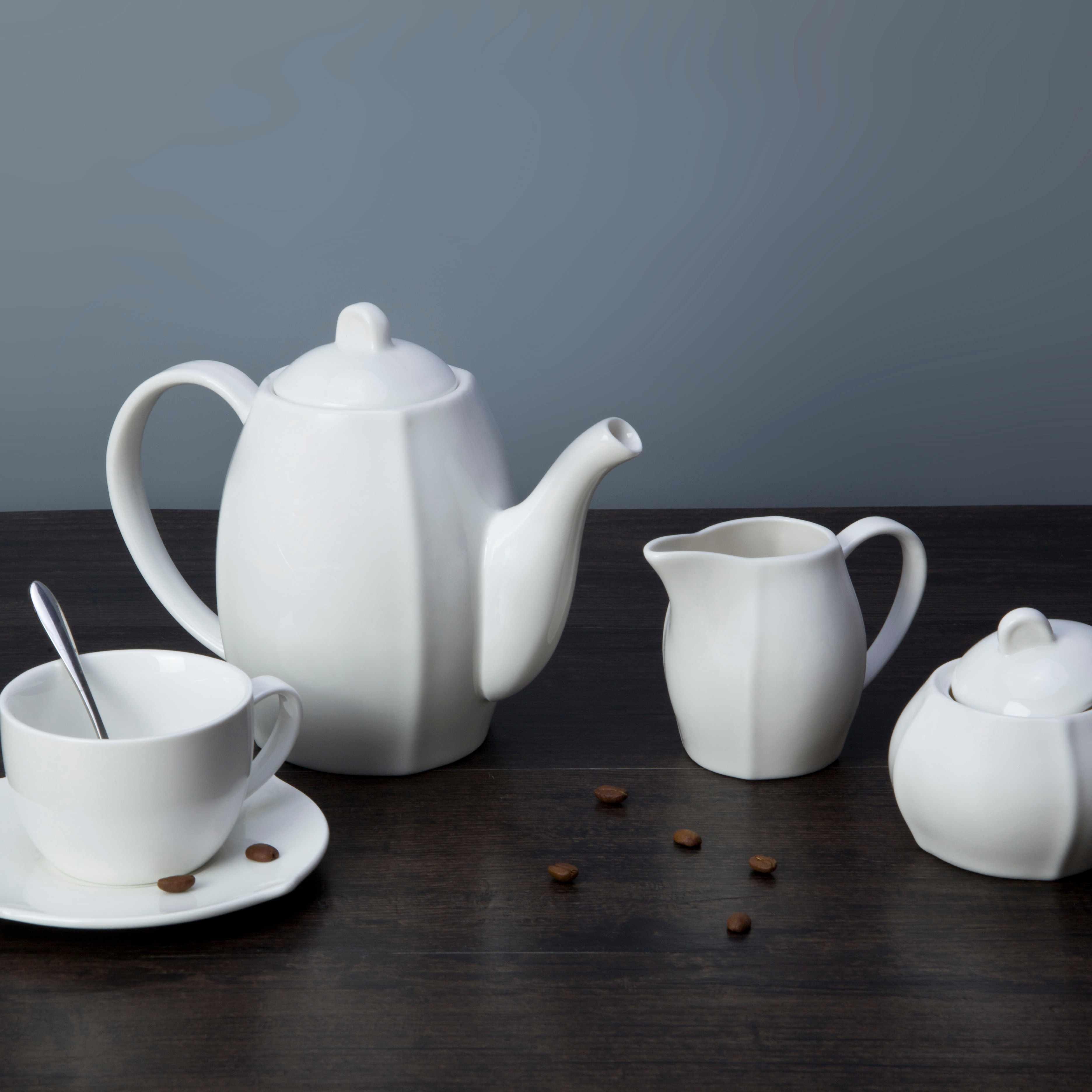 Two Eight-9 piece restaurant modern white porcelain dinnerware - TW25-1
