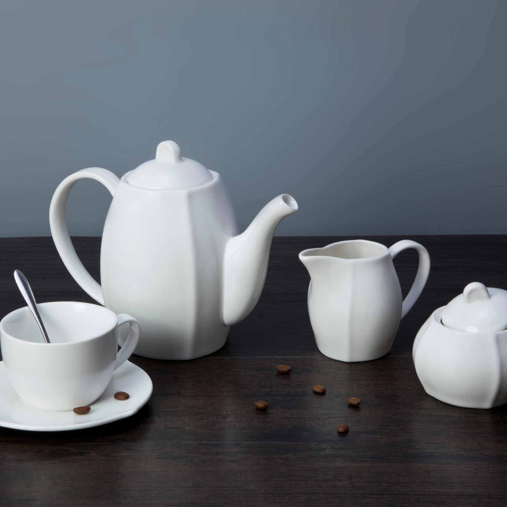 9 piece restaurant modern white porcelain dinnerware - TW25