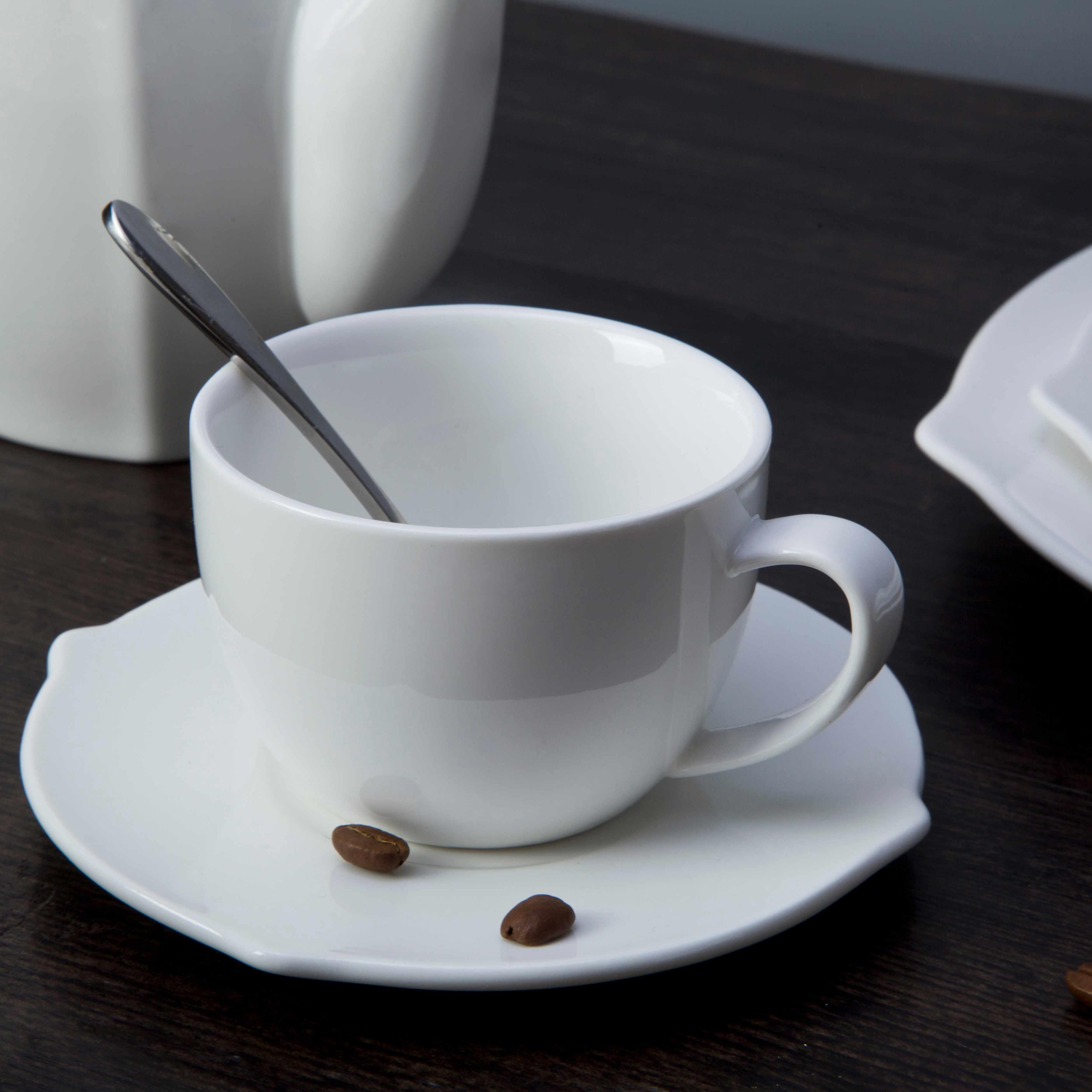 Two Eight-9 piece restaurant modern white porcelain dinnerware - TW25