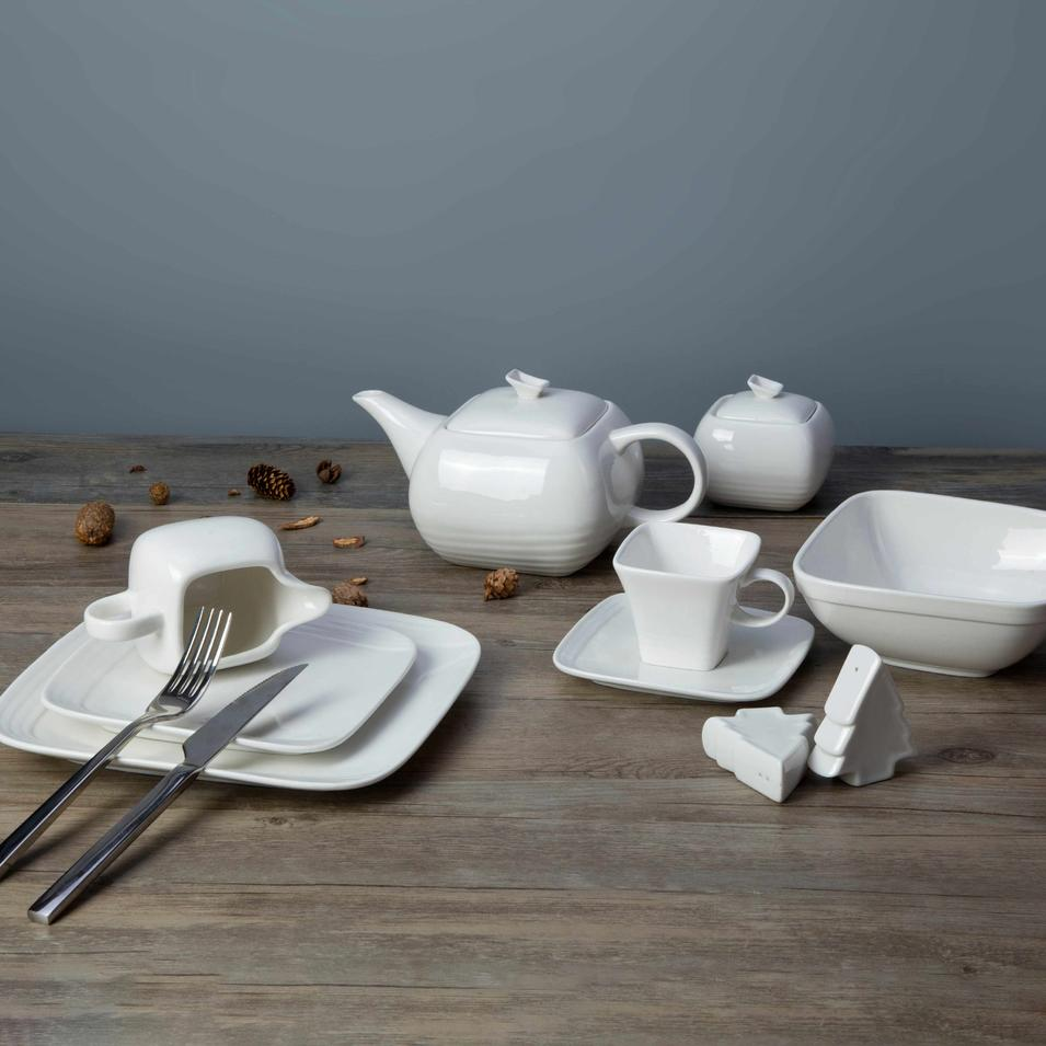 9 piece restaurant quality white dishes - TW24