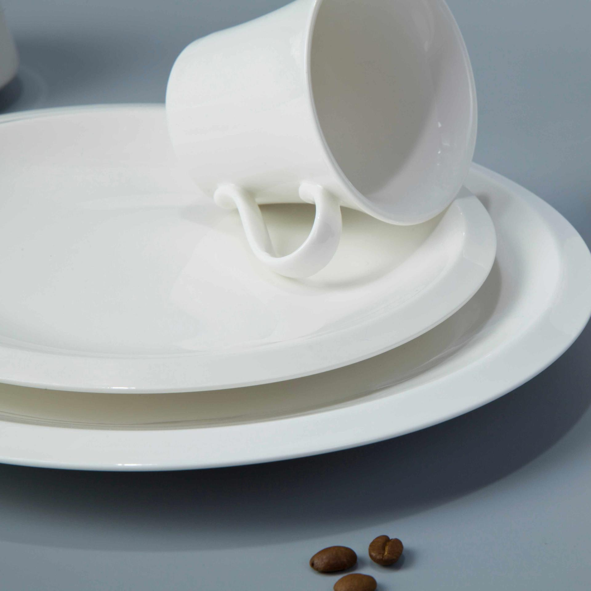 12 piece restaurant contemporary white dinnerware - TW23