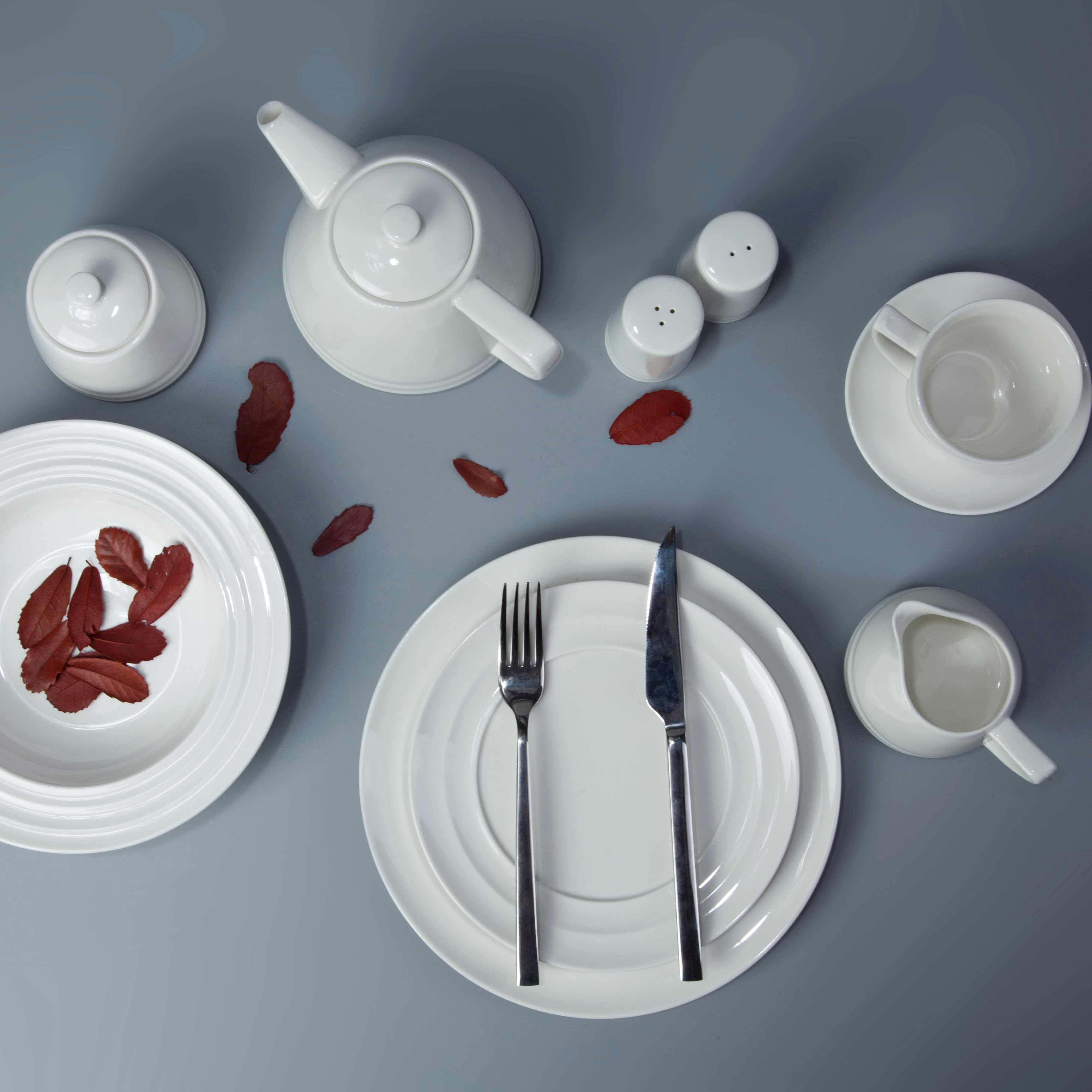 Two Eight White ceramic dinnerware set - YANG LIU SERIES White Porcelain Dinner Set image8