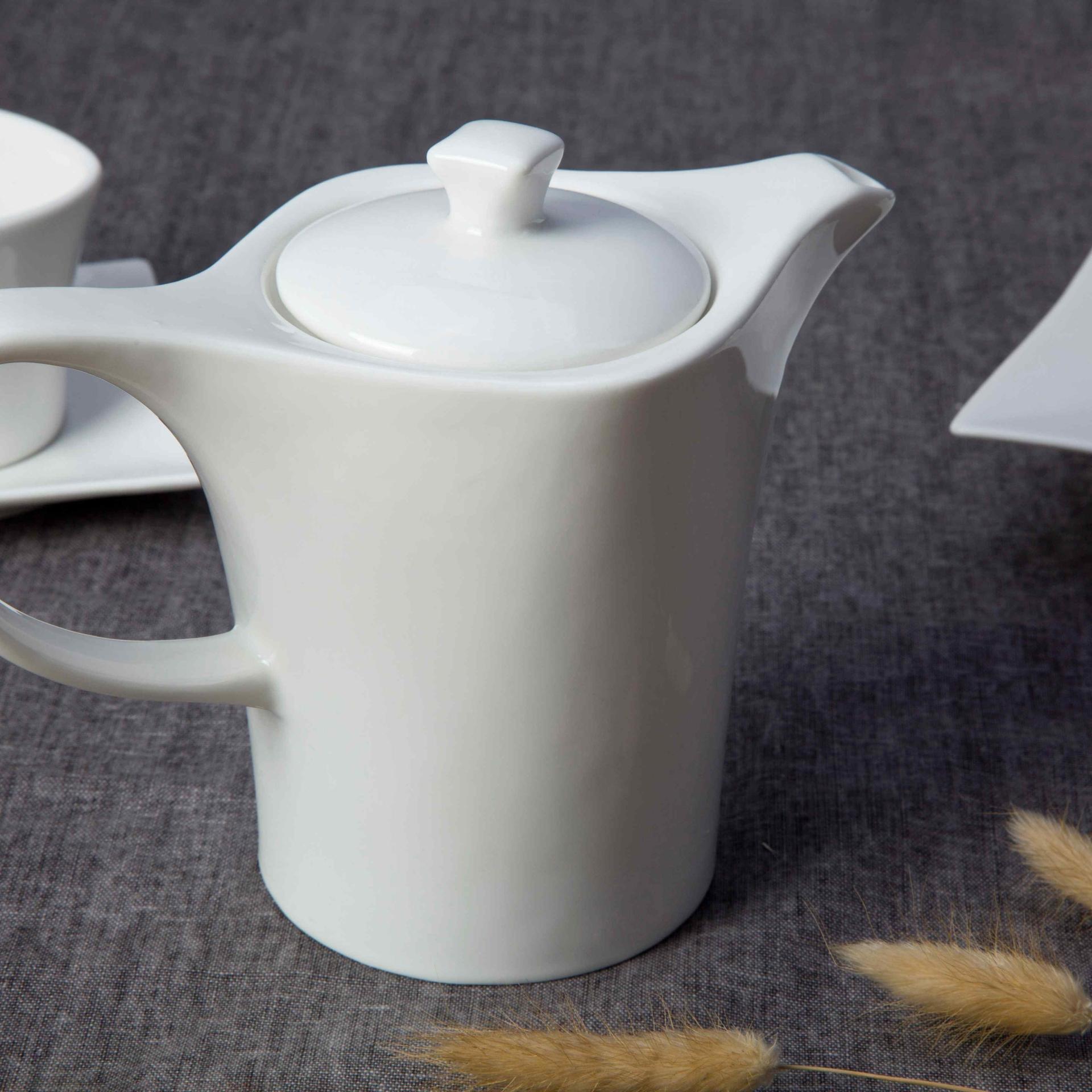 Ivory white ceramic dinnerware set -  TW21