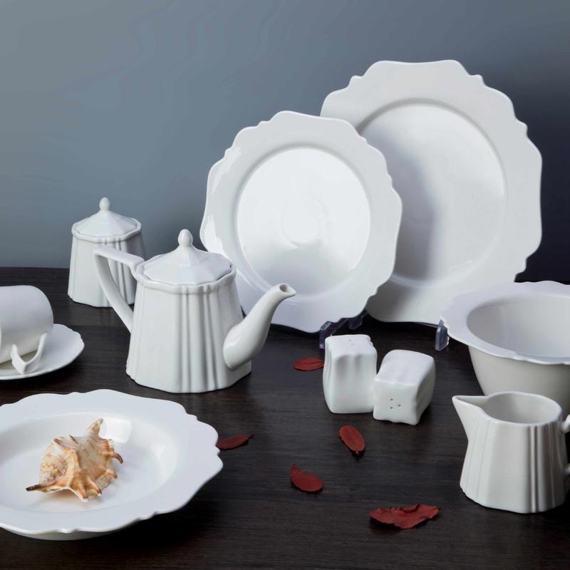 Unbreakable White Ceramic Dinnerware Set - TW19