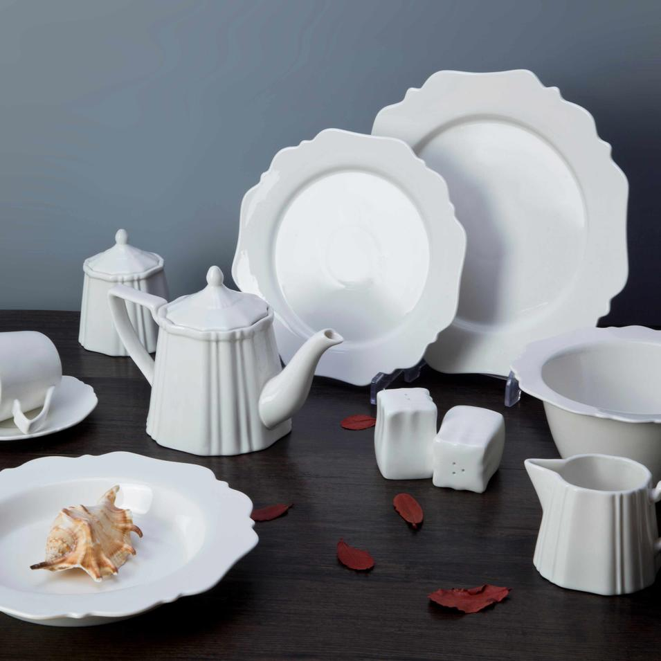 Unbreakable White Ceramic Dinnerware Set - TW19