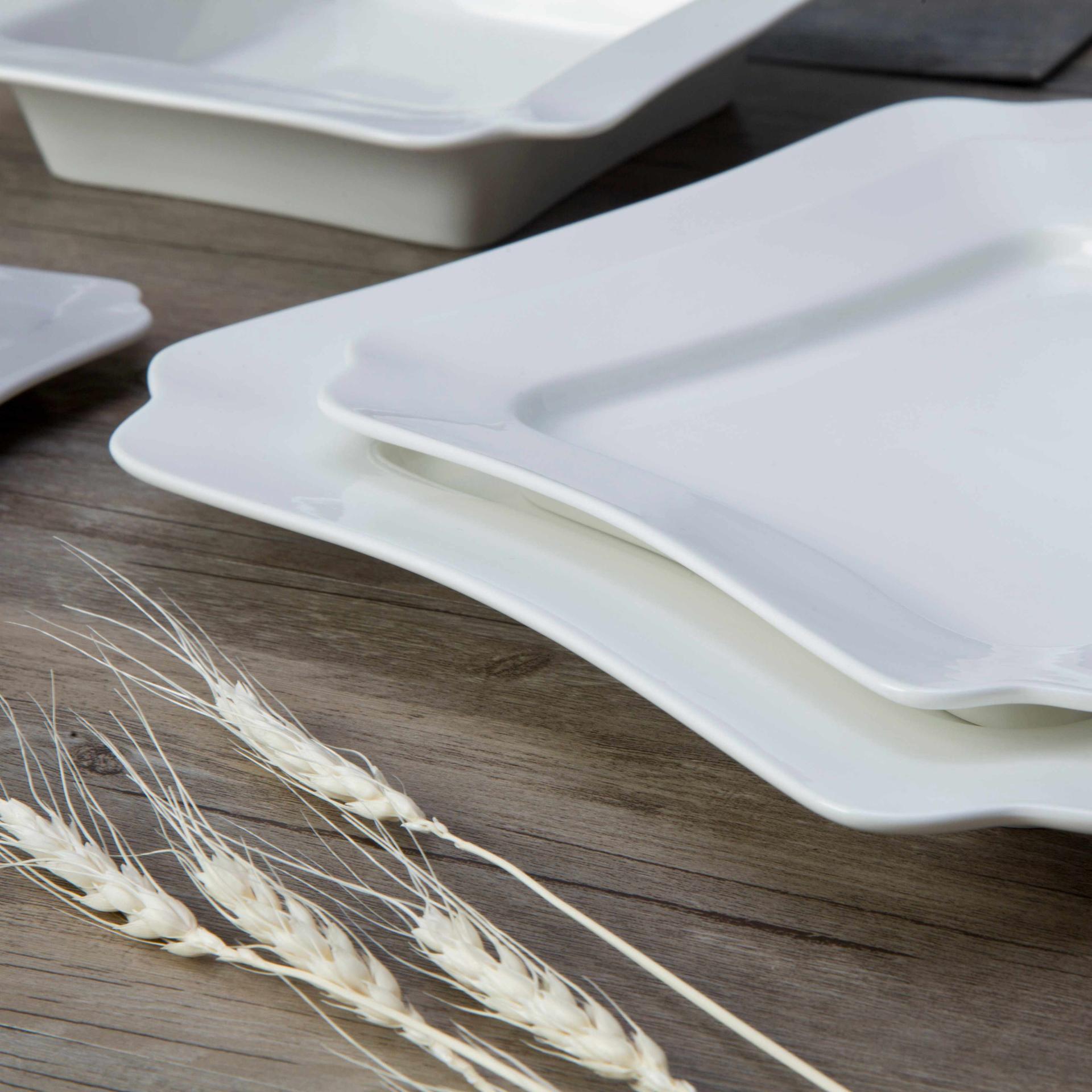 Modern Restaurant White Ceramic Dinnerware Set - TW18