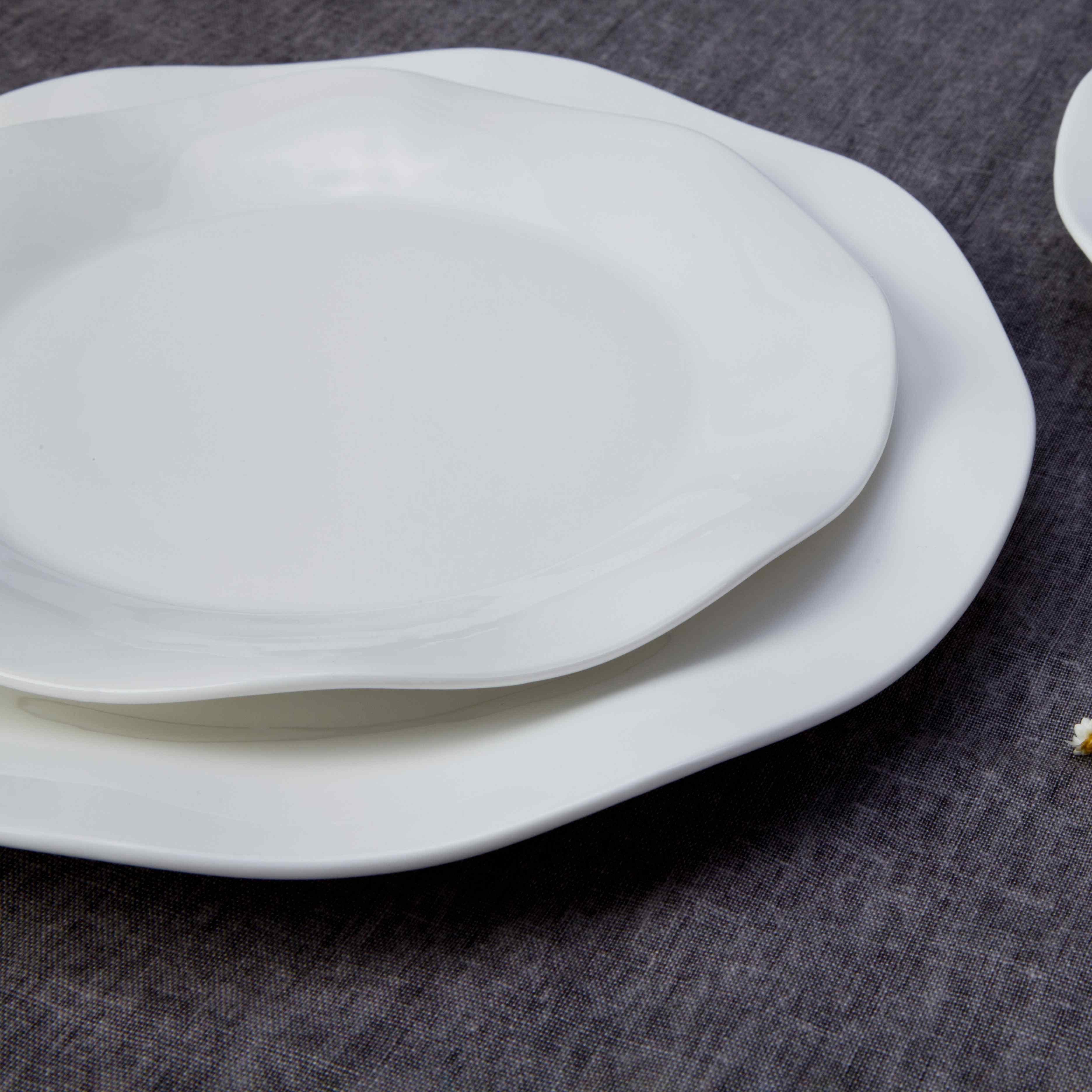 Two Eight-Restaurant Modern White Porcelain Dinnerware - TW17-1