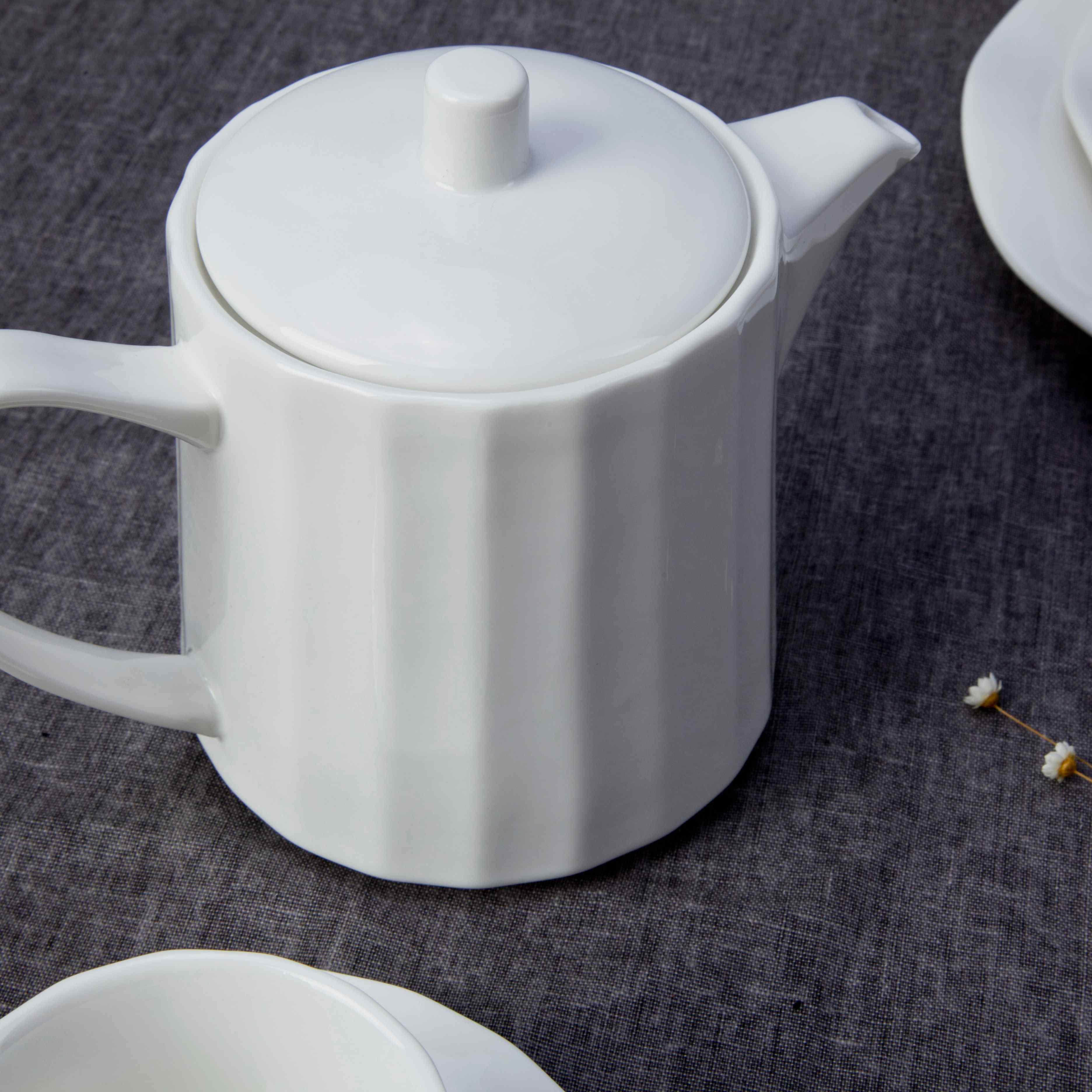 Two Eight-Restaurant Modern White Porcelain Dinnerware - TW17