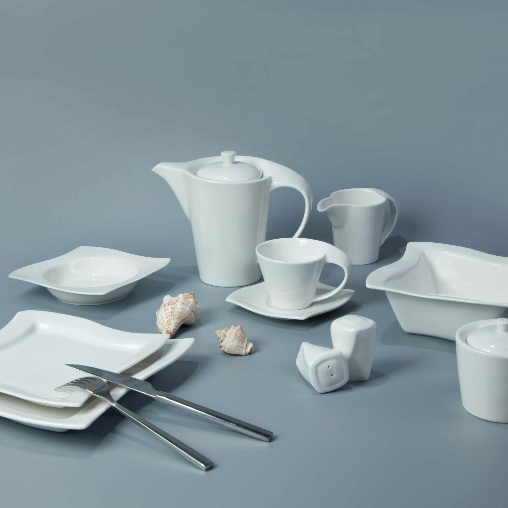 Contemporary White Porcelain Dinnerware Restaurant - TW16