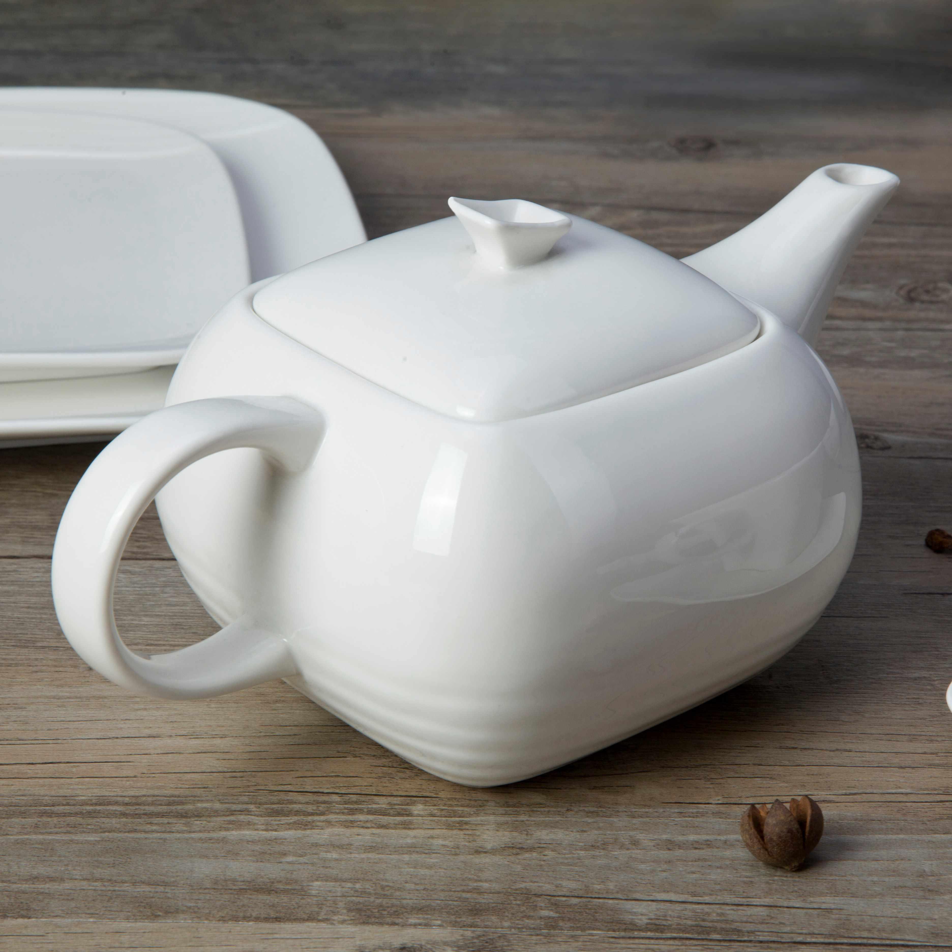 Two Eight-white bone china dinnerware ,white porcelain dish set | Two Eight-1
