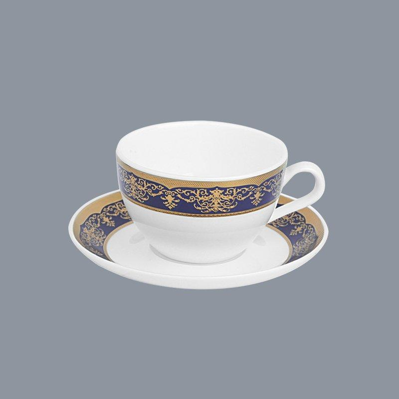colored navy whithe Two Eight fine china tea sets
