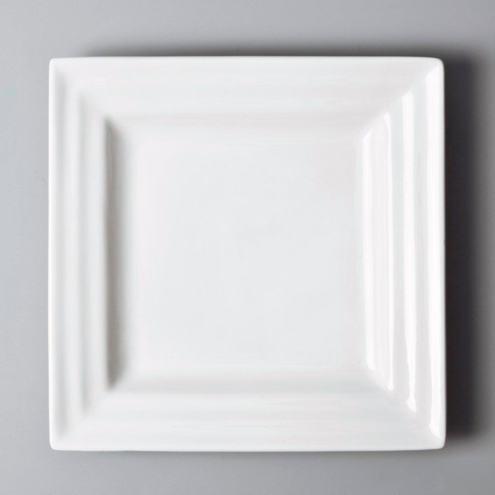 Two Eight white porcelain tableware vietnamese meng square home