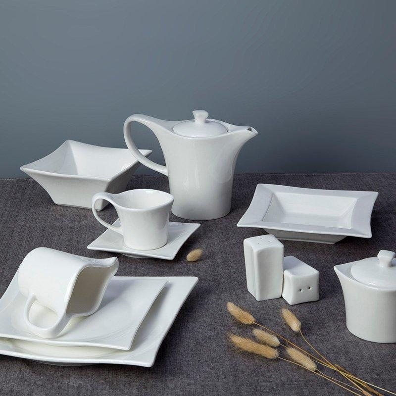 Ivory white ceramic dinnerware set -  TW21