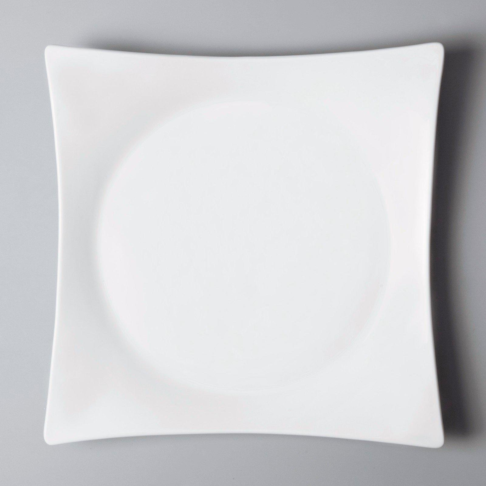 Wholesale rim glaze white dinner sets Two Eight Brand