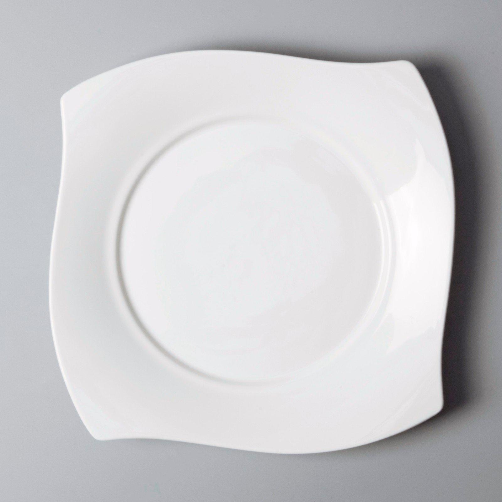 glaze plate Two Eight white porcelain tableware