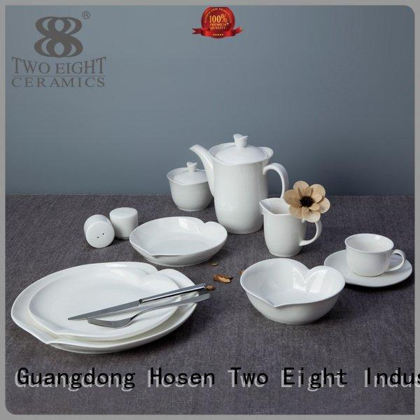 Hot white porcelain tableware bistro white dinner sets royal Two Eight