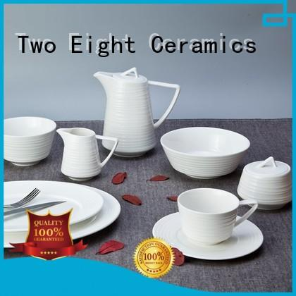 white plate set bulk for hotel Two Eight