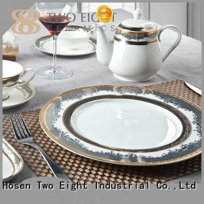 blue elegant fine china tea sets rim Two Eight