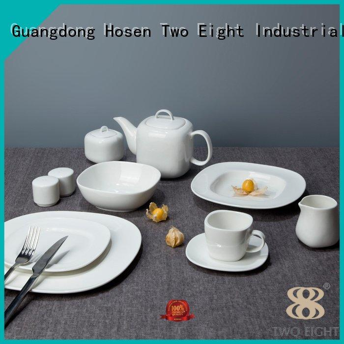 white porcelain tableware smoothly stock white dinner sets Two Eight Warranty