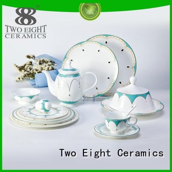 Two Eight Brand royalty grey custom fine white porcelain dinnerware