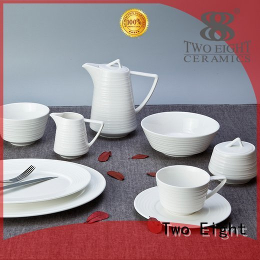 casual porcelain bistro dinner Two Eight white dinner sets