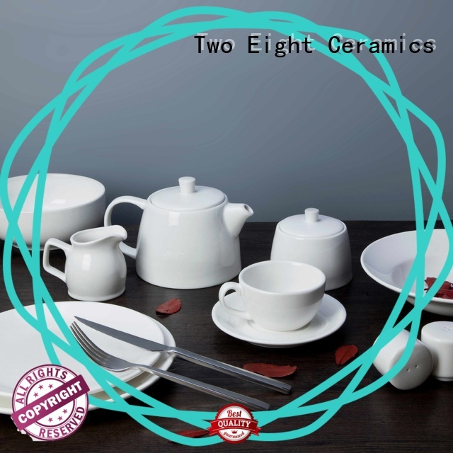 Two Eight rim white dinnerware sets for 8 directly sale for kitchen
