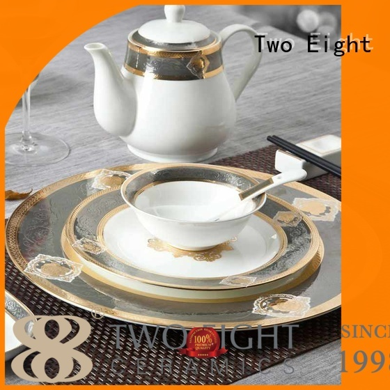 Two Eight fine china dinnerware set company for restaurant