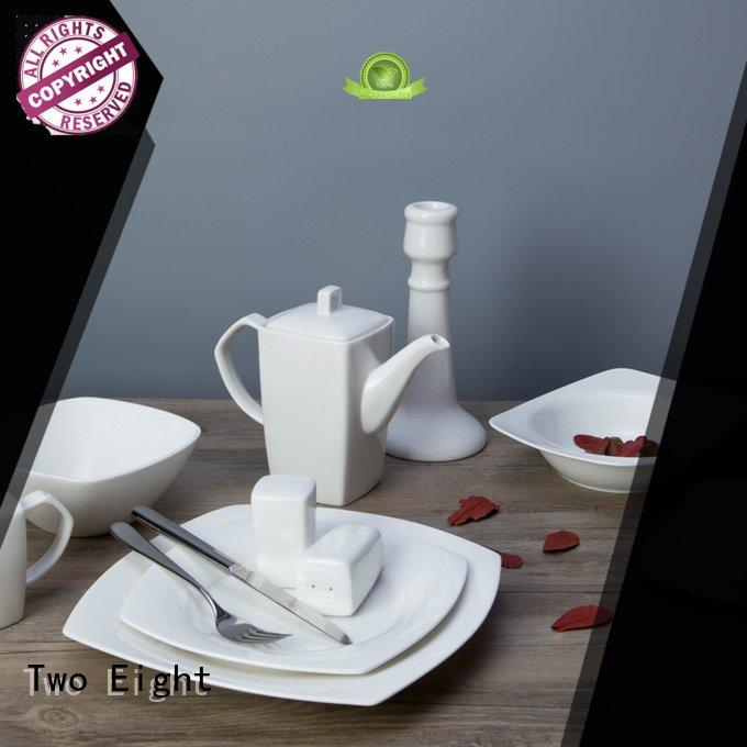 white porcelain tableware wang restaurant Two Eight Brand company
