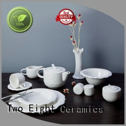 Two Eight hotel dinnerware company for bistro