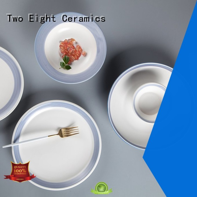 Two Eight restaurant plates and cutlery for business for hotel