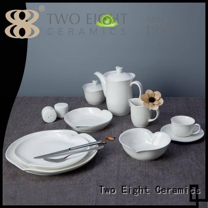 Two Eight Brand stock irregular home white porcelain tableware style