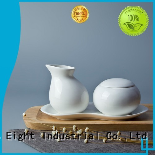 Custom white bone china porcelain Two Eight