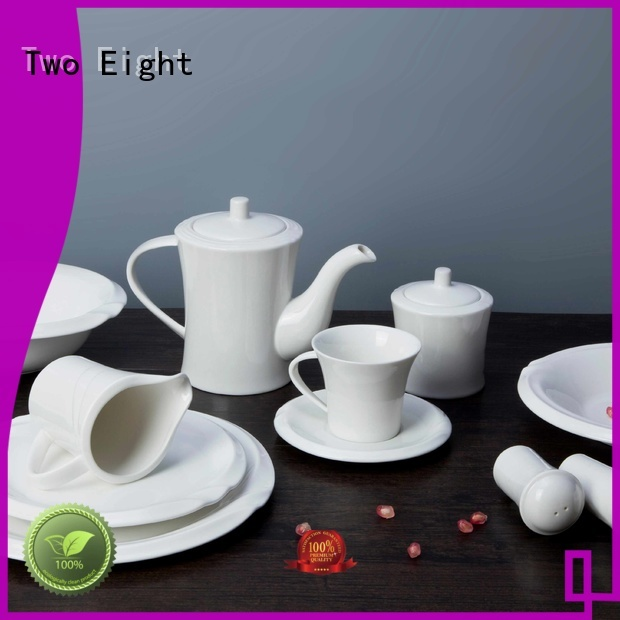Two Eight smooth restaurant porcelain dinnerware directly sale for hotel