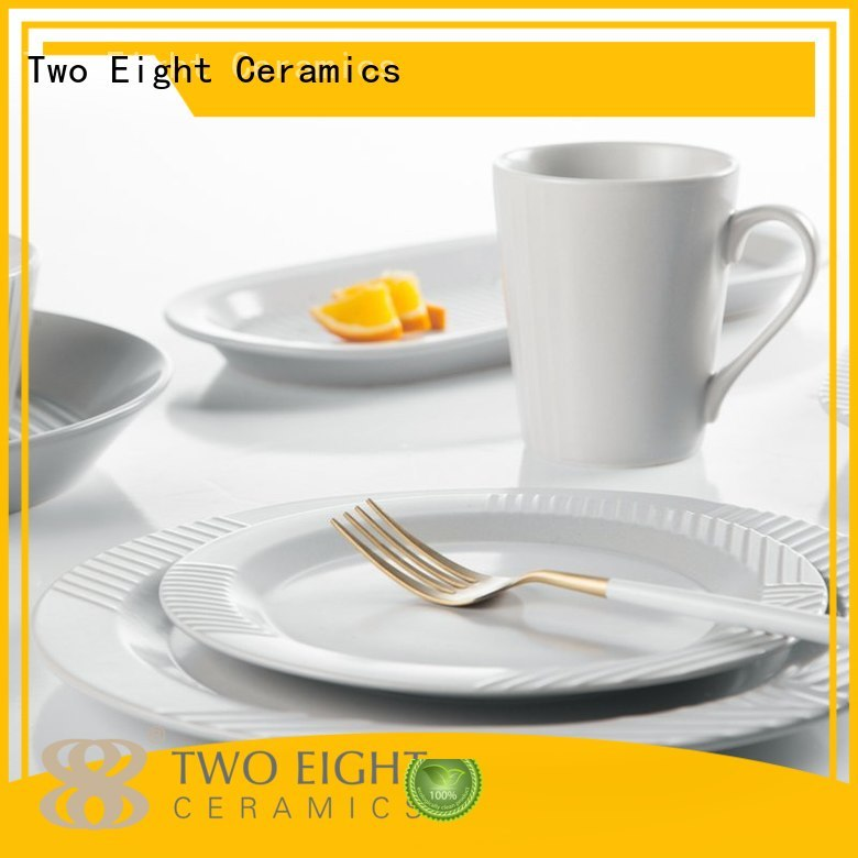 Two Eight Brand bistro french black 16 piece porcelain dinner set mixed